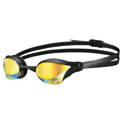 "Arena Schwimmbrille  ""Cobra Core Mirror"" Yellow/Black/Yellow"