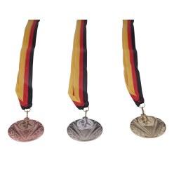 50er Teilnehmer Medaillen-Set, in Gold, Motiv Leichtathletik, 2. Wahl