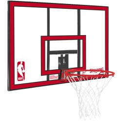 "Spalding® ""NBA Polycarbonate Backboard"" Basketball Wall Unit"