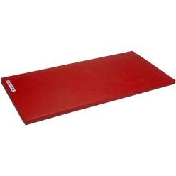 """Sport-Thieme® Turnmatte """"Spezial"""", 150x100x6 cm Polygrip Rot Mit Lederecken und Tragegriffen"""