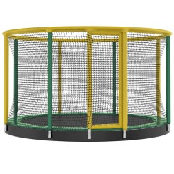 "Akrobat ""Gallus Inground"" Trampoline ø 3.05 m, Green/yellow"