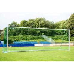 Sport-Thieme Trainings-Großfeldtor 7,32x2,44 m, eckverschweißt, silber, mit integraler Netzaufhängung SimplyFix