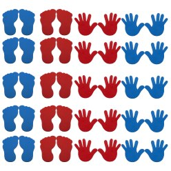 "Sport-Thieme ""Hands & Feet"" Floor Marker Set"