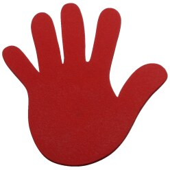 Sport-Thieme Floor Marker Red, Hands, 18 cm