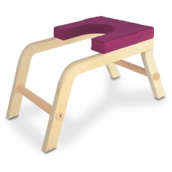 Siya Yoga Headstand Stool Berry, To be used against a wall