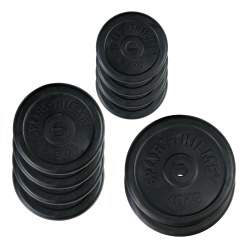 Sport-Thieme® Rubber Weight Disc Set, 50 kg