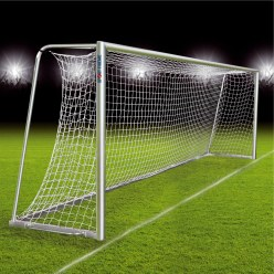 Fully Welded Football Goal, Portable With Milled Net Fastening Rail, 7.32x2.44 m