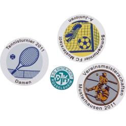 Folienemblem mit Text oder Logo für Medaillen