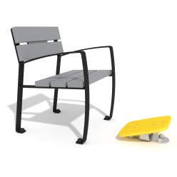 Vitalis-Park Single Bench with Foot Rockers