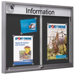 Indoor Notice Board with Sliding Doors