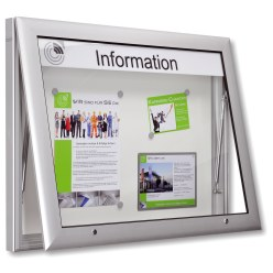 """Softline"" Notice Board with Gas Springs"