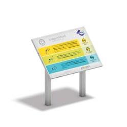 """Playparc Stationenschild """"4F Circle"""""""