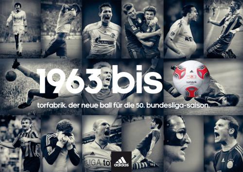 Adidas Bundesliga-Ball im Sport-Thieme Shop: 50 Jahre Bundesliga