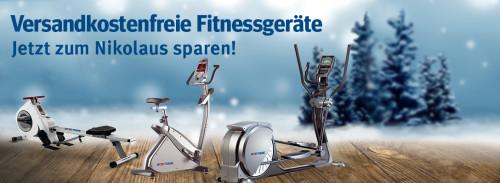 Versandkostenfreie Fitnessgeräte - Jetzt zum Nikolaus sparen!