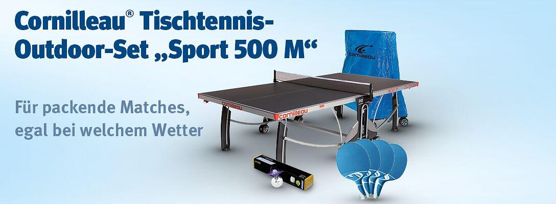 Cornilleau® Tischtennisplatte Sport 500M - für packende Matches bei jedem Wetter