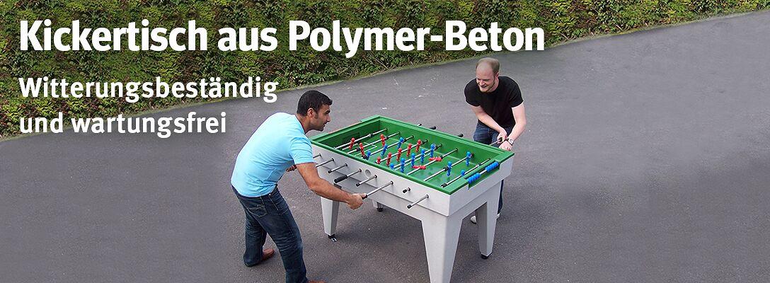 Kickertisch aus Polymer-Beton