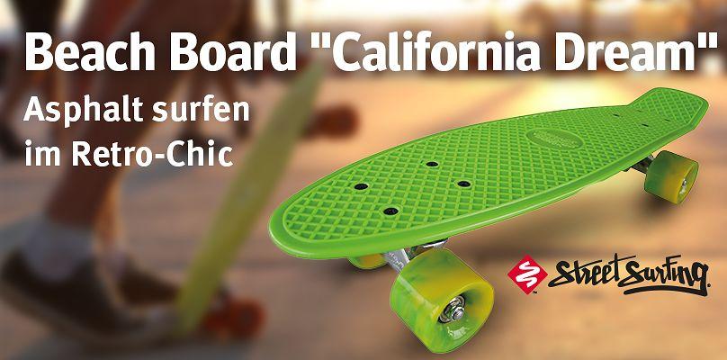 "Beach Board ""California Dream"" - Asphalt surfen im Retro-Chic"