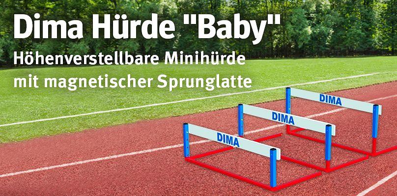 """Dima Hürde """"Baby"""" - Höhenverstellbare Minihürde mit magnetischer Sprunglatte"""