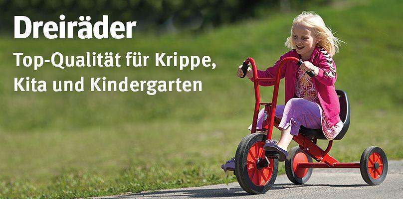 Dreiräder – Top-Qualität für Krippe, Kita und Kindergarten