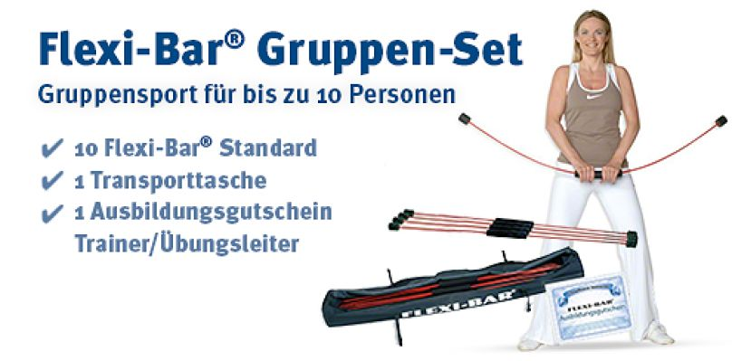 Flexi-Bar® Gruppen-Set - Gruppensport für bis zu 10 Personen