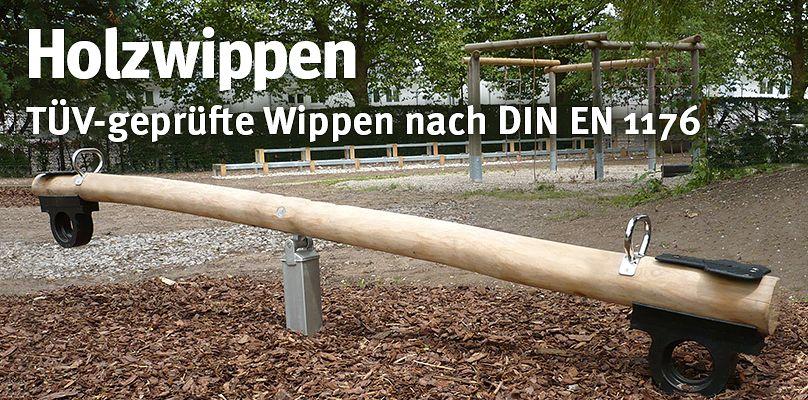 Holzwippen - TÜV-geprüfte Wippen nach DIN EN 1176