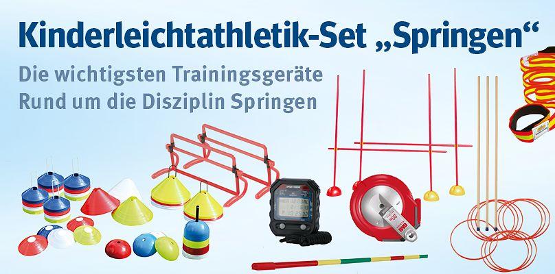 """Kinderleichtathletik-Set """"Springen"""" - Die wichtigsten Sprunggeräte im Set"""