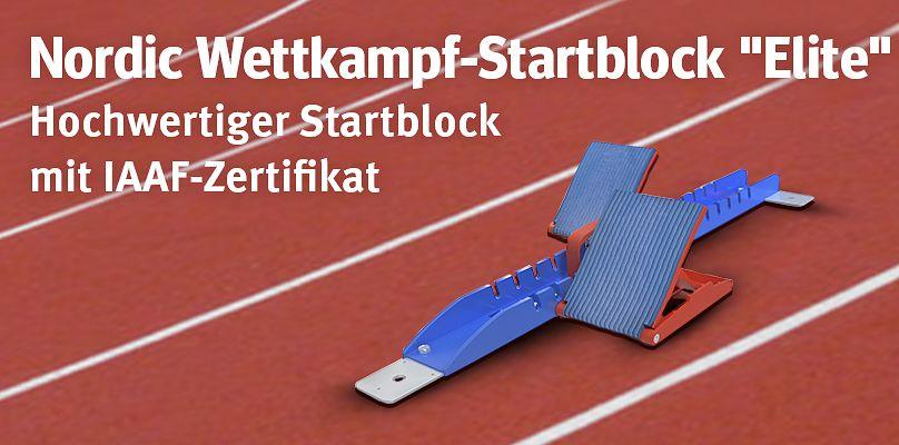 """Nordic Wettkampf-Startblock """"Elite"""" mit IAAF Zertifikat"""