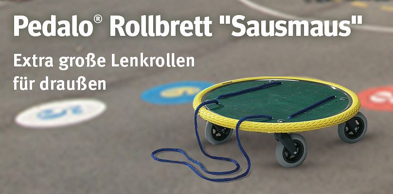 "Pedalo® Rollbrett ""Sausmaus Outdoor"" - Extra große Lenkrollen für draußen"