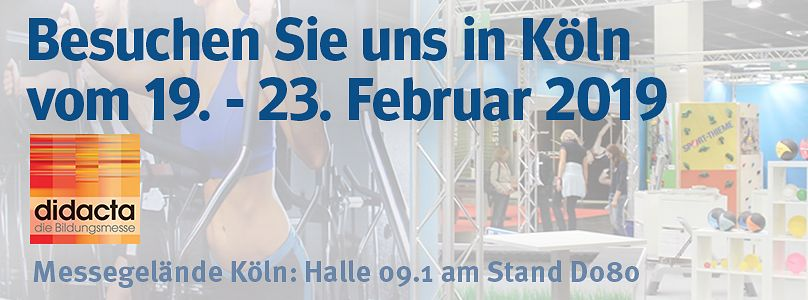 Sport-Thieme auf der Didacta - Besuchen Sie uns in Köln!