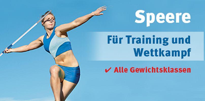 Speere für Training und Wettkampf