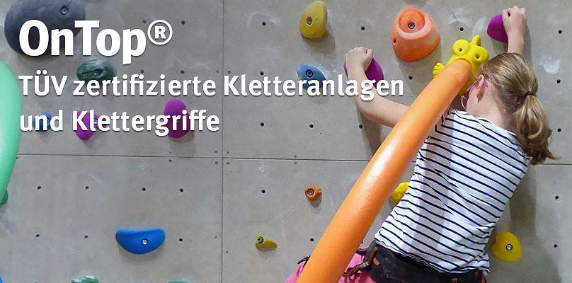 OnTop - TÜV zertifizierte Kletteranlagen und Klettergriffe