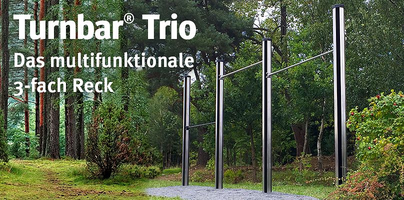 Turnbar® Trio - Das multifunktionale 3-fach Reck