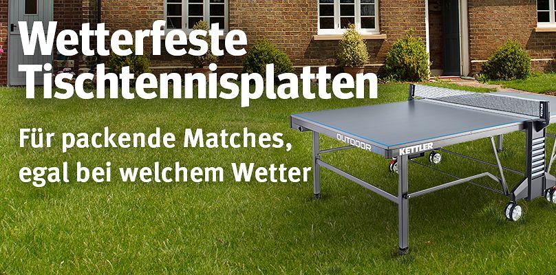 Wetterfeste Tischtennisplatten