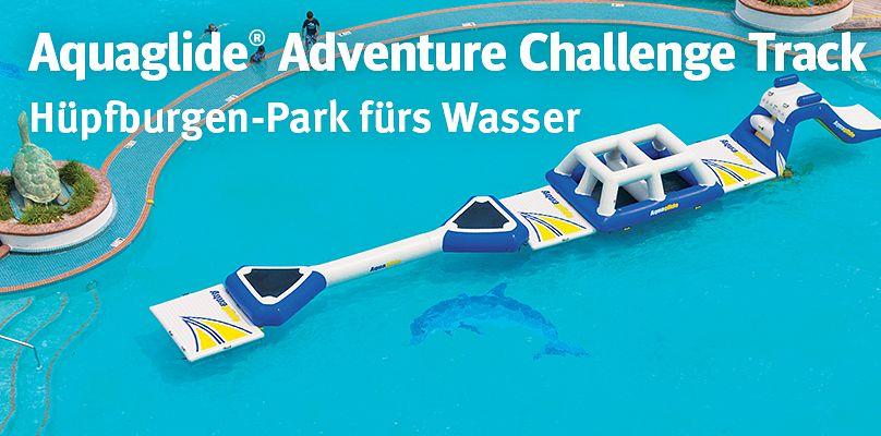 Hüpfburgen-Park fürs Wasser