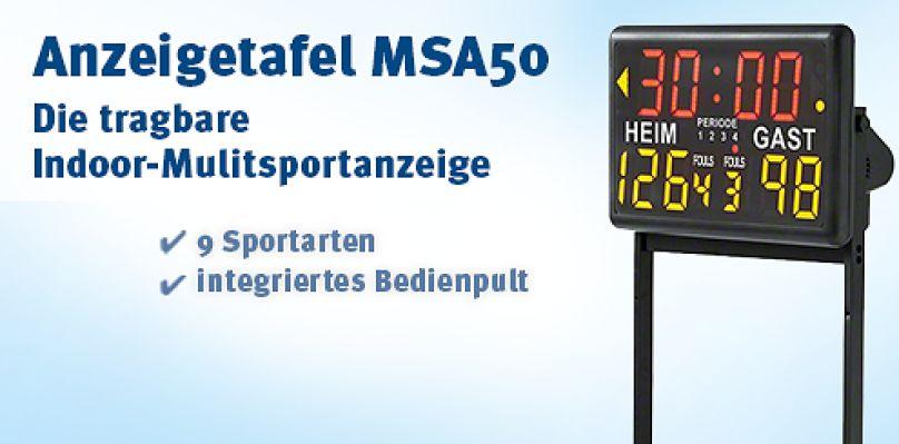 Anzeigetafel MSA50 - Die tragbare Indoor Multisportanzeige