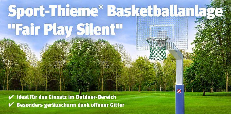 """Sport-Thieme® Basketballanlage """"Fair Play Silent"""" - für den öffentlichen Bereich"""