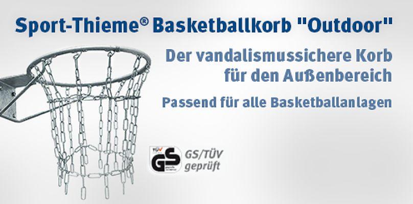 """Sport-Thieme® Basketballkorb """"Outdoor"""" - Der vandalismussichere Korb für den Außenbereich"""