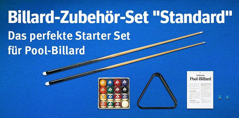 """Billard-Zubehör-Set """"Standard"""" - Das perfekte Starter Set für Pool-Billard"""
