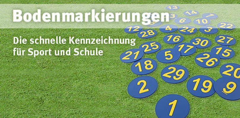 Bodenmarkierungen - Die schnelle Kennzeichnung für Sport und Schule