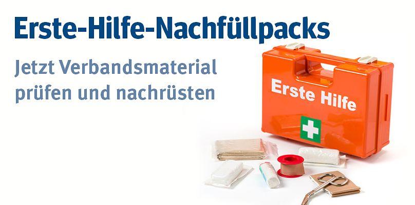 Erste-Hilfe-Nachfüllpacks - Jetzt Verbandsmaterial prüfen und nachrüsten