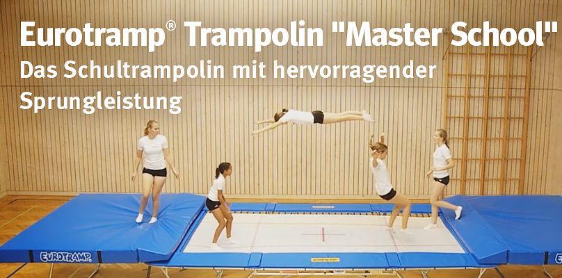 """Eurotramp® Trampolin """"Master School"""" – Das Schultrampolin mit hervorragender Sprungleistung"""