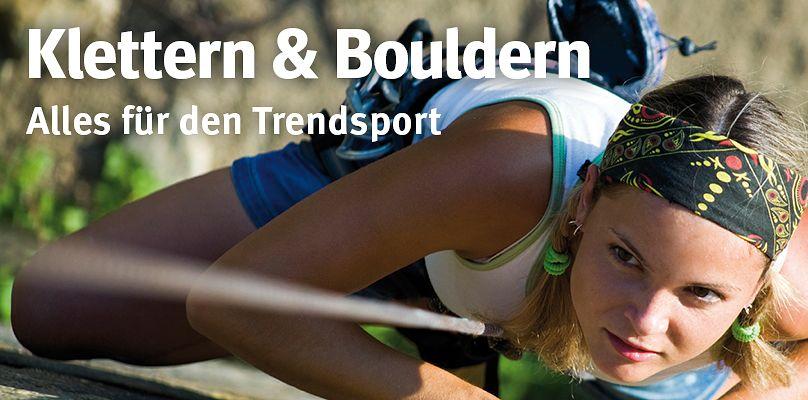 Klettern & Bouldern: Alles für den Trendsport