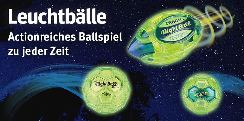 Leuchtbälle - Actionreiches Ballspiel zu jeder Zeit