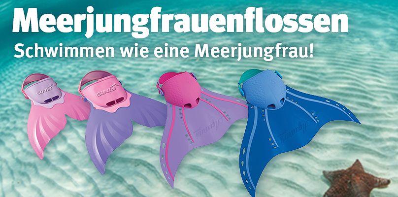 Meerjungfrauenflossen - Schwimmen wie eine Meerjungfrau!