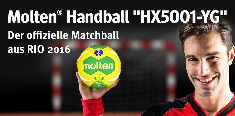 """Molten® Handball """"HX5001-YG"""" - der offizielle Matchball aus Rio 2016"""