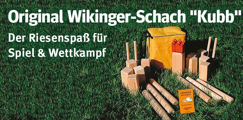 """Original Wikinger-Schach """"Kubb"""" - Der Riesenspaß für Spiel & Wettkampf"""