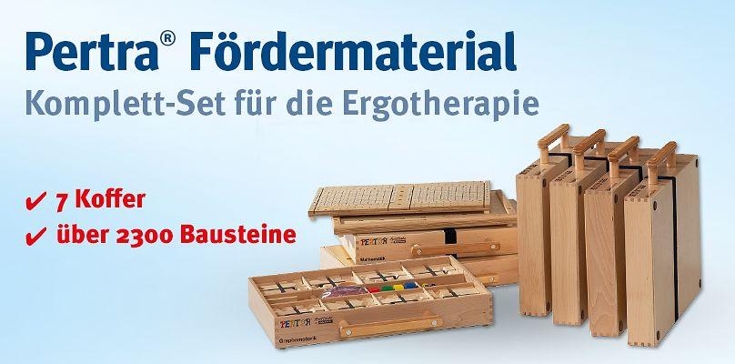 Pertra - Komplett-Set für die Ergotherapie 2 Koffer über 2300 Bausteine