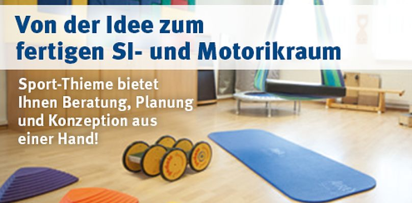 SI- und Motorikräume ausgestattet von Sport-Thieme