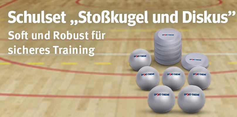 """Schulset """"Stoßkugel und Diskus"""" - Soft und Robust für sicheres Training"""