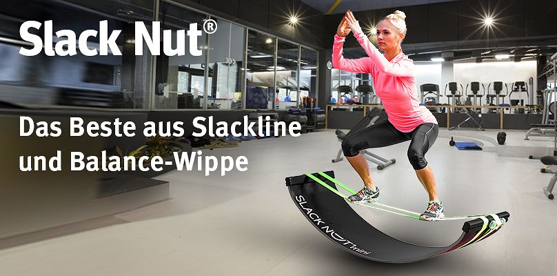 Slack Nut® - Das Beste aus Slackline und Balance-Wippe